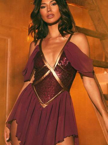 Fine Like Wine Costume by Roma, Burgundy, Size L - Yandy.com