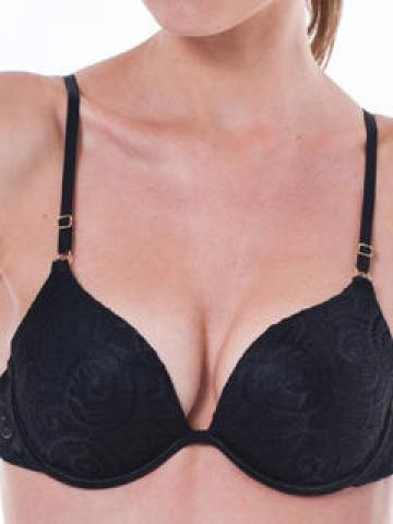 Patented Push-Up Plunge Bra