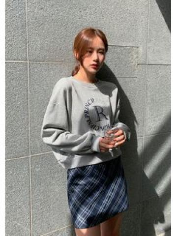 Plaid H-Line Miniskirt