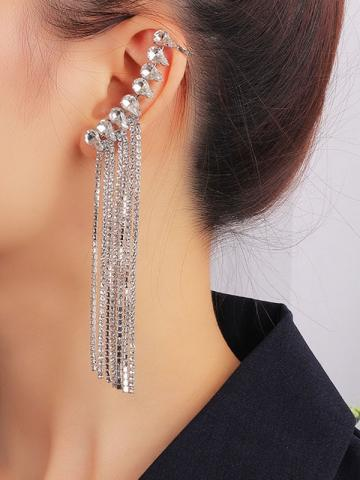 Plain Alloy Diamante Prom Earrings