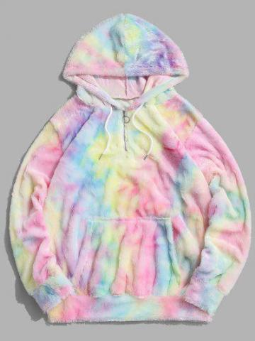 Tie Dye Fuzzy Hoodie