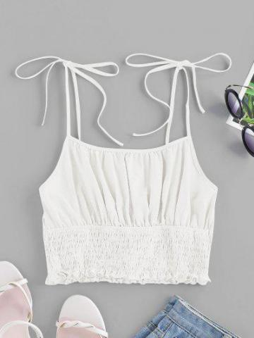 Tie Ruched Cami Top
