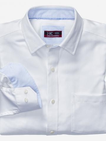 XC4 Solid Birdseye Point-Collar Shirt